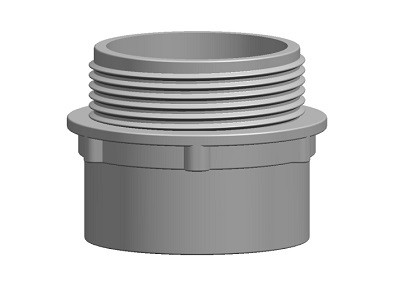 Waste Male Threaded Adaptor Solvent (BSPM)