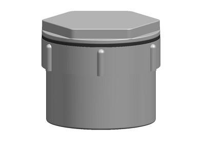 Waste Access Cap Solvent