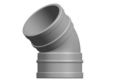 Waste Bend 45° DS Solvent