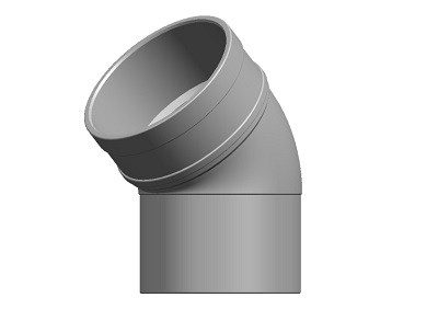 Waste Conversion Bend 45° SS Solvent