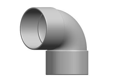 Waste Knuckle Bend 90° DS Solvent