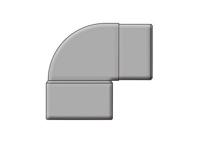Waste Convertion Knuckle Bend 90° DS Solvent
