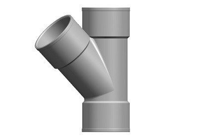 Waste Branch 45° TS Solvent